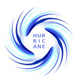 blue hurricane logo vector image vector image