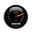 calendar 2019 in speedometer car vector image vector image