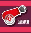 cannon ball poster carnival fun fair festival vector image vector image