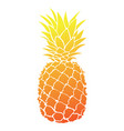 cartoon pineapple colorful print of fresh vector image vector image