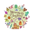 Christmas frame template card background vector image vector image