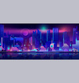 city nightlife cartoon urban background vector image vector image