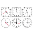 clock face round and square set vector image