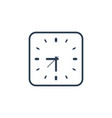 Clock icon flat design element watch