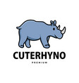 cute rhino cartoon logo icon vector image