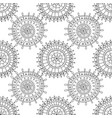 decorative black and white seamless pattern for vector image vector image