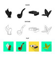 design accessories and harm sign set of vector image vector image