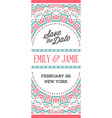 design awesome wedding invitation template vector image vector image