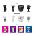 design liquor and restaurant icon set vector image vector image