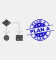 dotted block diagram icon and scratched vector image vector image