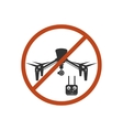 Drone Prohibited Danger Zone Sky Icon Red vector image vector image