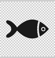 fish sign icon in transparent style goldfish on vector image vector image