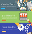 Flat Design Concept Set of for Web Banners vector image