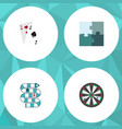 flat icon entertainment set of arrow ace jigsaw vector image vector image