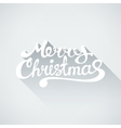 Flat style Merry Christmas text with shadow vector image vector image