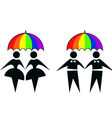 gay couples vector image vector image