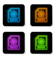glowing neon max file document icon download max vector image vector image