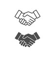 handshake icon lined and filled style vector image vector image