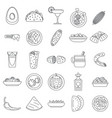 healthy mexican food icon set outline style vector image