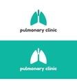 Human lungs logo design template vector image vector image