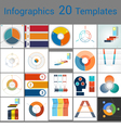 Infographics 20 Templates text area 3 positions vector image vector image