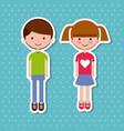 kids sticker design vector image