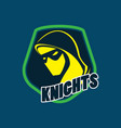 knight logo image vector image