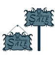 labels for sales on Halloween vector image vector image