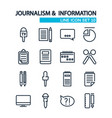 line journalistic icons collection vector image