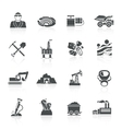 Mining Icons Black vector image vector image