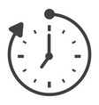 overtime solid icon business and clock vector image vector image