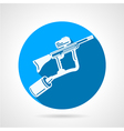 Paintball rifle round icon vector image vector image