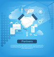 partners web banner with copy space on blue vector image