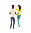 people dance in pair moving man and woman vector image vector image