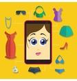 phone girl shopping flat vector image