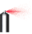 pixel spray can on white vector image