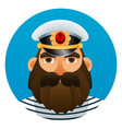 portrait of captain cartoon image vector image vector image