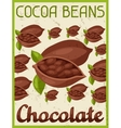 Poster with chocolate bar in retro style vector image vector image