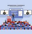 presentation conference hall composition vector image vector image