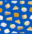 realistic detailed 3d cheese seamless pattern vector image vector image