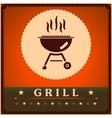 Retro Grill Menu Card Design template poster vector image vector image