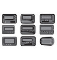 reyro gadgets vintage pagers collection set vector image vector image