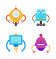 robots collection types set vector image vector image
