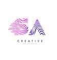 sa s a zebra lines letter logo design with vector image