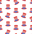seamless texture with uncle sams top hat vector image vector image