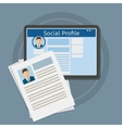 Search Social Profile vector image vector image