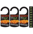 set of halloween sale tag can use for your vector image vector image