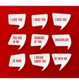 Set of white paper speech bubbles vector image