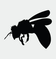 silhouette a honey bee contours a wasp vector image vector image
