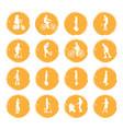 sixteen golden negligent vector image